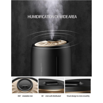Deerma M800 Black Digital LED Air Humidifier  or + Deroma essential Oil [ Malaysia 3 Pin Plug ]