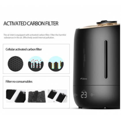 Deerma M800 / F600 Black Digital LED Air Humidifier  or + Deroma essential Oil [ Malaysia 3 Pin Plug ]