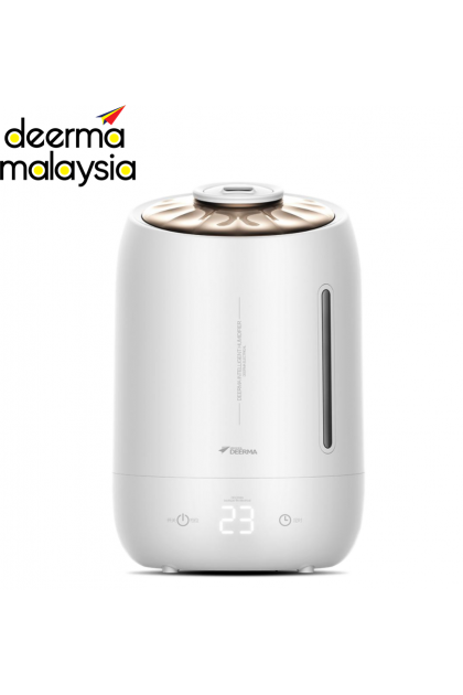 Deerma Digital Led Display Air Humidifier Handle + Tank (5L) - White Shell F600