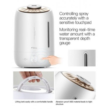 Deerma F600 (5L) Digital Shell Air Humidifier (White Shell) + Air-O-Matic