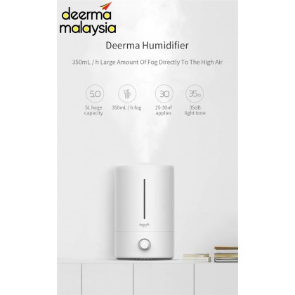 Deerma F628 Air Humidifier Aroma Oil Space & Carbon Filter (5L)