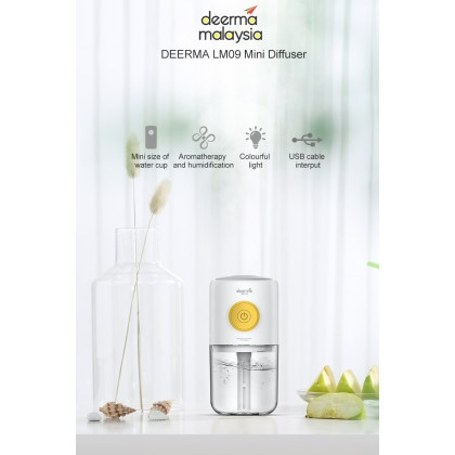 Deerma USB Aroma Diffuser with 7 Light LM09 or + Deroma Essential Oil 30ml