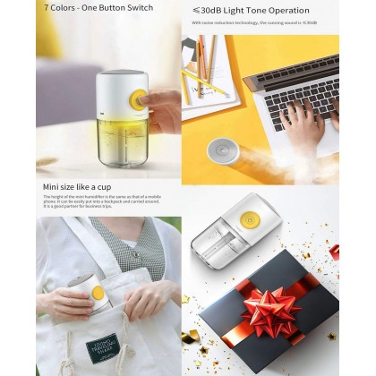 Deerma LM09 USB Aroma Diffuser with 7 Light or + Deroma Essential Oil 30ml