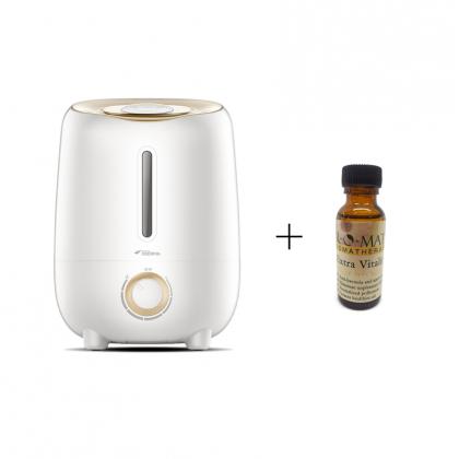 Deerma F420 M Air Humidifier with Independent Aroma Oil Space & Carbon Filter (3.0L) + Airomatic Essential Oil 36ml