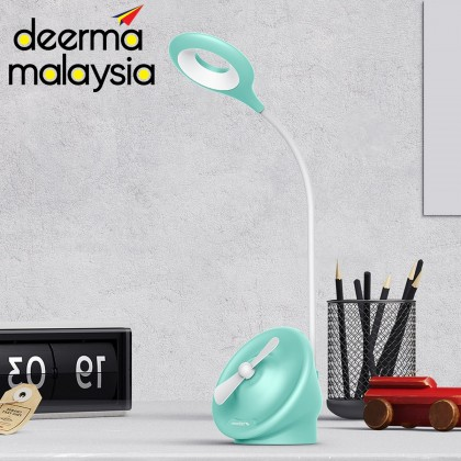 Deerma TD200 (2in1) Mini Table Stand Fan With LED Light - Portable USB Charging (Modern Design Lifting Comfort)