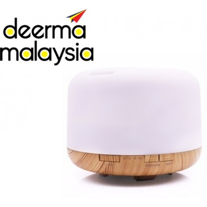 Aroma Diffuser Wood 500ml With 7Light Color + Deroma Essential Oils