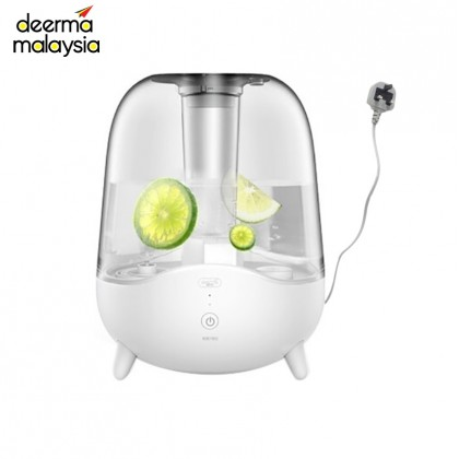 Deerma M535 Air Humidifier White Transparent Big Capacity Water Tank 5L (M'sia 3 Pin Plug Wire) or + Deroma EO