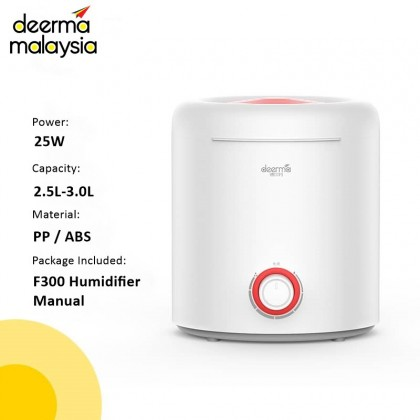 Deerma F300 Air Humidifier / Aroma Diffuser (Fill In Water From Top Tank 2.5L) or + Airomatic 36ml Oil Package