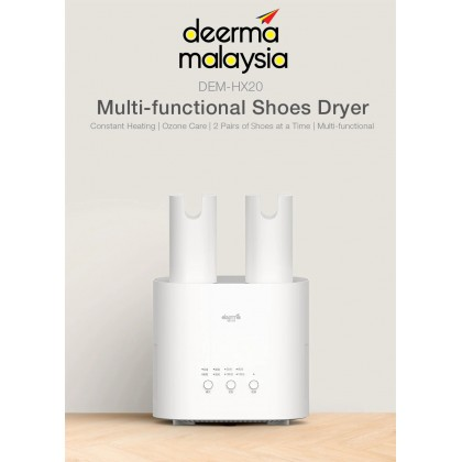 Deerma HX20 Dehumidification Drying Shoes - White