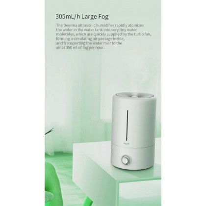 Deerma F628 Air Humidifier (5L) With Aroma Oil Space & Carbon Filter / + Deroma Essential Oil
