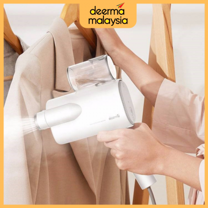 Deerma HM100 Portable Garment Steam Iron - White With Hard Container Case (Malaysian Set)