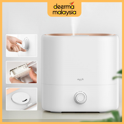 Deerma ST635 Air Humidifier Elegant White 4.5L Water Tank Capacity or + Deroma Essential Oil