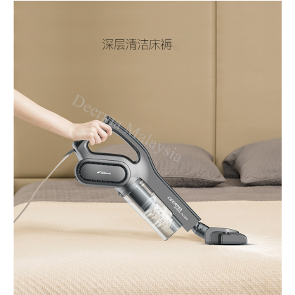 Deerma DM717 Vacuum Strong Suction Hepa Filter Sweeper (M'sia 3 Pin Plug) - Grey