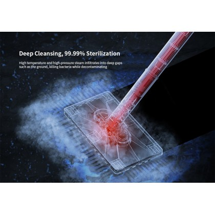 [READY STOCK] Deerma ZQ610 Steam Mop Cleaner with 5 Brush Head