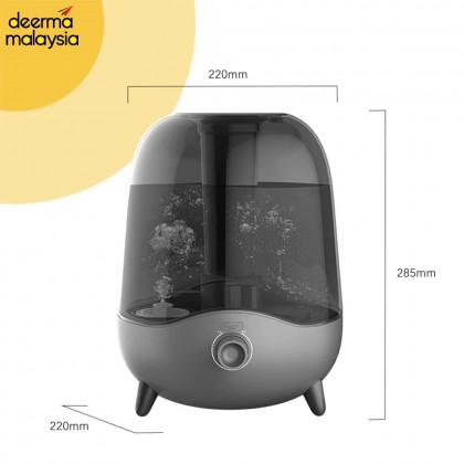 Deerma F323 Air Humidifier - Black Transparent Water Tank (5L)