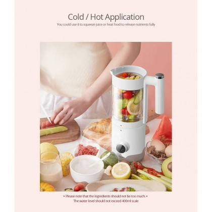 Deerma NU100 Multi-functional Mini Blender - (2in1) Hot and Cold Application