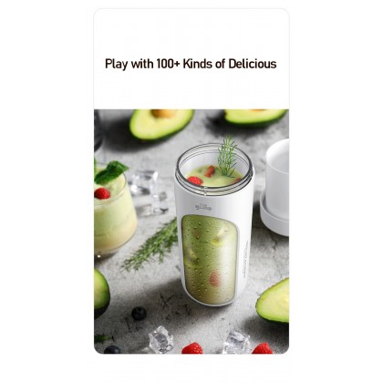 Deerma NU30 Portable Wireless Juicer Blender Sports Juice Cup with 300ml Capacity