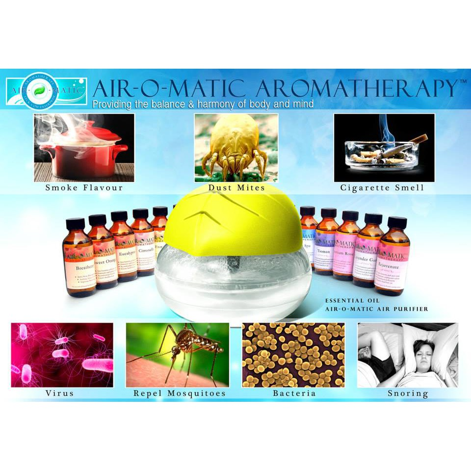 Airomatic Essential Oil Aromatherapy Air Humidifier Diffuser (125ml)