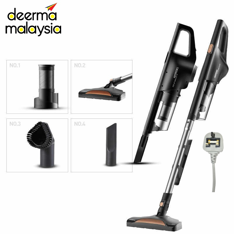Deerma DM616 Steel Cyclone Filter Powerful Vacuum Cleaner 2 in 1 (3.0 Version) - Piano Black